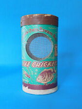 VINTAGE LIVE CRICKETS BAIT BOX CANNISTER NATURE'S OWN BREAM BAIT FISH FISHING