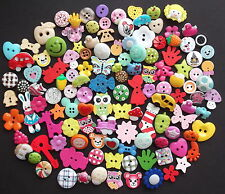 100 Quality Resin Wooden Assorted Buttons, FIRST CLASS POST