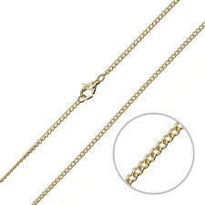 "2mm Curb Chain Jewellery Necklace With Clasp Gold Plated 16"" (G94/14)"