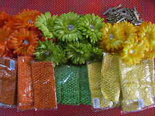 36 Lot DIY Flower Hair Clip Headband Kit Craft Fair Church Bazaar Home Business