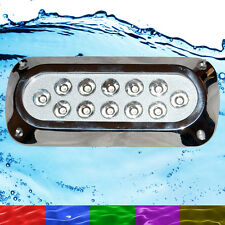 36W RGB Marine Underwater LED Boat Lights Multi-Colour + Remote Latest HUGE Size