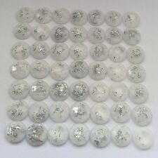 100 pcs x Sew On  8 mm Resin Rhinestones White Color  Round Shape