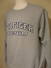 Vintage 1990's Tommy Hilfiger Denim Jeans Heather Gray Sweat Shirt XL