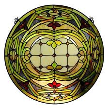 Tiffany Style Stained Glass Float Art Window Panel 24 Inches Handcrafted New