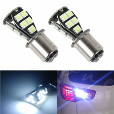2 x 18 LED White Brake Tail Light 1157 BAY15D 5050 SMD P21/5W CANBUS Bulb DC 12V