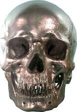Human Skull Replica, Silver Metallic Chrome Color, Life Size: Ships From USA