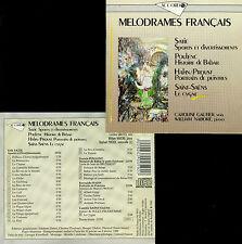 MELODRAMES FRANCAIS : SATIE, POULENC, HAHN / PROUST, SAINT-SAENS