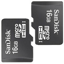 2 Pack SanDisk Class 4 16GB MicroSD Micro SD SDHC TF Flash Memory Card 16 GB G