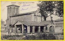 cpa Rare 16 - BENEST (Charente) L'ÉGLISE du Village et les HALLES Marché Couvert