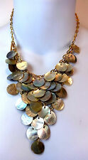 ELEGANT MULTI LAYERED PEARL STYLE SEA THEMED GOLDEN NECKLACE STUNNING (A12)