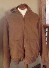 Mens SEAN JOHN Suede Bomber Winter Jacket Size 2XL