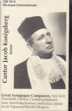 Jacob Konigsberg - 20th Century Cantor (Cassette, 1991, CM-7616) NEW Cantor