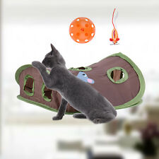 New Pet Kitten Cat House Tunnel Toys Funny Holes Kitten Pet Mouse Hunt Cat Toy