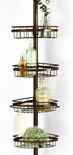 Ultimate 4 Wire Shelf Corner Pole BathTub Adjustable Shower Caddy - Orb