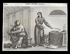 santino incisione1800 S.GIUSTINO DI NABLUS M.