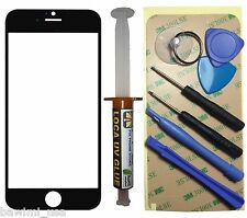 "Black Outer Glass Lens Screen iPhone 6 4.7"" Replacement UV LOCA Glue 7 Tools"