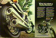 1976 HARLEY-DAVIDSON FXE-1200 2 Page Motorcycle Ad FXE1200