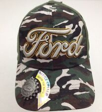 New Men's Ford Motor Co. Baseball Cap Hat With Bottle Opener Green Camo OSFM