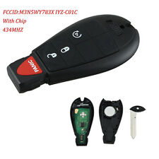 For Dodge Ram 1500 2500 3500 4500 Fobik Star Key Fob Keyless Remote with Chip