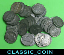 40 (1 ROLL) SILVER JEFFERSON WAR TIME NICKELS 5c 35% SILVER***FREE SHIPPING