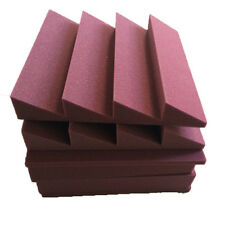 6X Acoustic Foam Sound Absorption Sponge Wall Panel Tile Wedge Burgundy