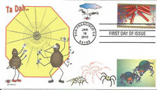 SPIDERS  HAPPY FACE  SMILE  SPIDER WEB  LOVE       FDC- DWc  CACHET