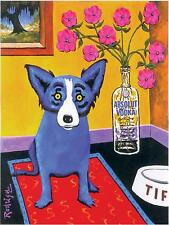 ABSOLUT VODKA RODRIGUE BLUE DOG POSTER PRINT 29,7 x 42 cm NEW
