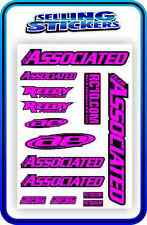 TEAM ASSOCIATED RC STICKERS DECAL 1/10 1/8 TC7 CAR BUGGY OFF ROAD PINK BLACK R/C