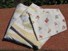 Vintage Holly Hobbie twin sheet set flat fitted pillowcase fruit apple peach