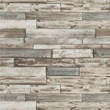 Erismann Tapete - Alt Verwitter Holzplatten / Planken - Grau & Weiß - 7319-10