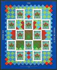 Canada Stamps -Full Pane of 12 -Canada Day: Maple Leaf Quilt #1607a -MNH