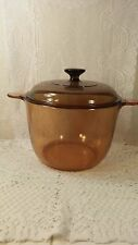 VINTAGE CORNING WARE VISION 3.5L DUTCH OVEN STOCK POT WITH LID FRANCE