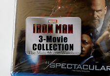 Marvel Iron Man Trilogy 1 2 & 3 Blu-ray Movie Collection English French Spanish