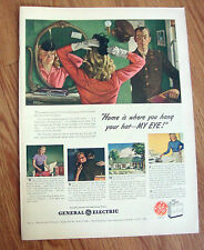 1944 GE General Electric Appliance Ad Home is where you hand Your Hat-My Eye