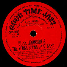 BUNK JOHNSON & THE YERBA BUENA JAZZ BAND 2:19 Blues / Ace in the hole 78rpm X784