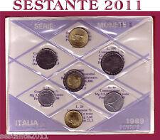 ITALY,  ITALIA , Mini Serie Divisionale Sigillata in FDC 1989  + Cartoncino