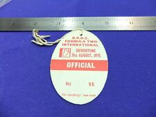 vtg card silverstone circuit pass official 96 brdc 1975 formula two racing motor