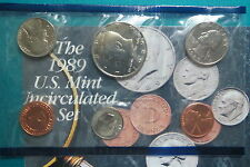 1989 U.S. KENNEDY HALF DOLLAR  5-COIN MINT SET, Uncirculated from Philadelphia