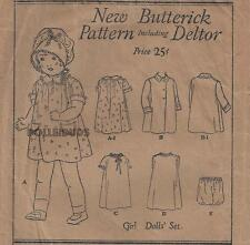 "VINTAGE 16"" ANTIQUE DOLL CLOTHES PATTERN 433"