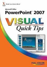 "NEW - MIcrosoft ""Office Powerpoint 2007 Visual Quick Tips"