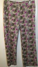 LIZ CLAIBORNE CAPRI/CROPPED STRETCH PANTS WOMEN'S SIZE 6 MULTI COLOR FLORAL (3A)