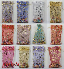Mixed 20pcs Organza Jewelry Packing Pouch Wedding Favor Large Gift Bags 13X18cm