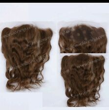 8A 13x2 ear to ear lace frontal closure Medium Brown colour 4 in 16""