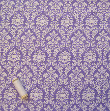 Lilac Damask Pattern Brushed Cotton Dressmaking Fabric * Michael Miller *