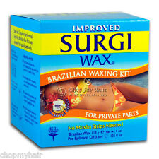 Surgi Hard Wax Brazilian Hair Remover for Private Parts 82563 NO Strips Needed