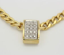 Gelb Weiß Gold Collier in aus 14k mit Diamanten Diamant Diamantkette Goldcollier
