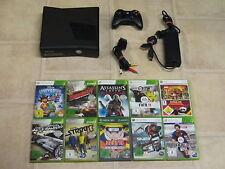 Xbox 360 Konsole Slim Schwarz Kinect Ready mit 3 Gratis Spiele #182 LESEN!!!!!