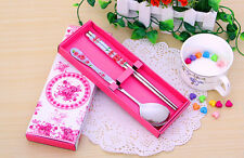 Spoon Chopsticks Kitchen Cutlery Set Bento Box Tableware Wedding Gift Multicolor