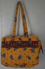Vera Bradley french yellow blue floral print large tote bag diaper double strap