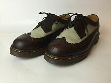 Dr. Martens Rockabilly Tuxedo Wingtip Shoe UK 7 US 8 Creeper DOC 3989 Rare Color